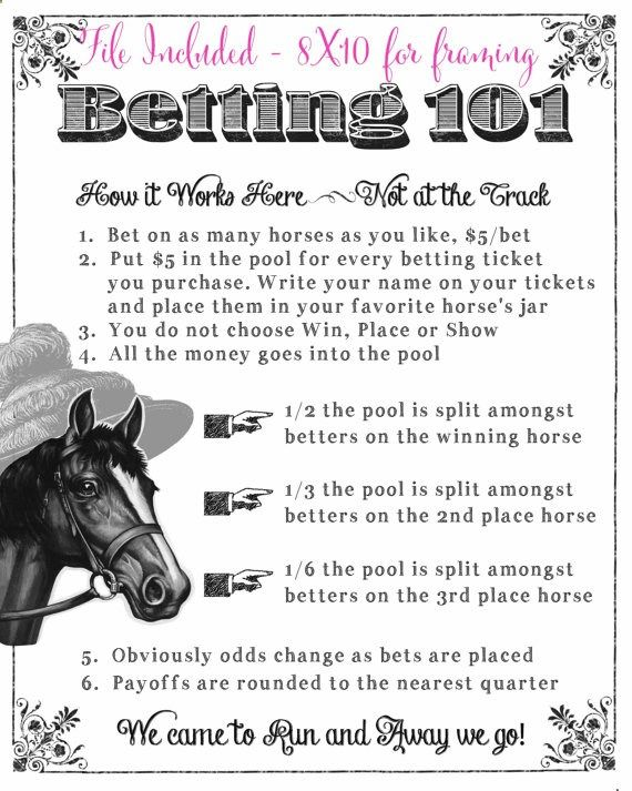 Derby Party Printable Kentucky Derby Preakness Belmont Stakes Betting Sheets Derby Betting Game Instant Download for you to print for your home