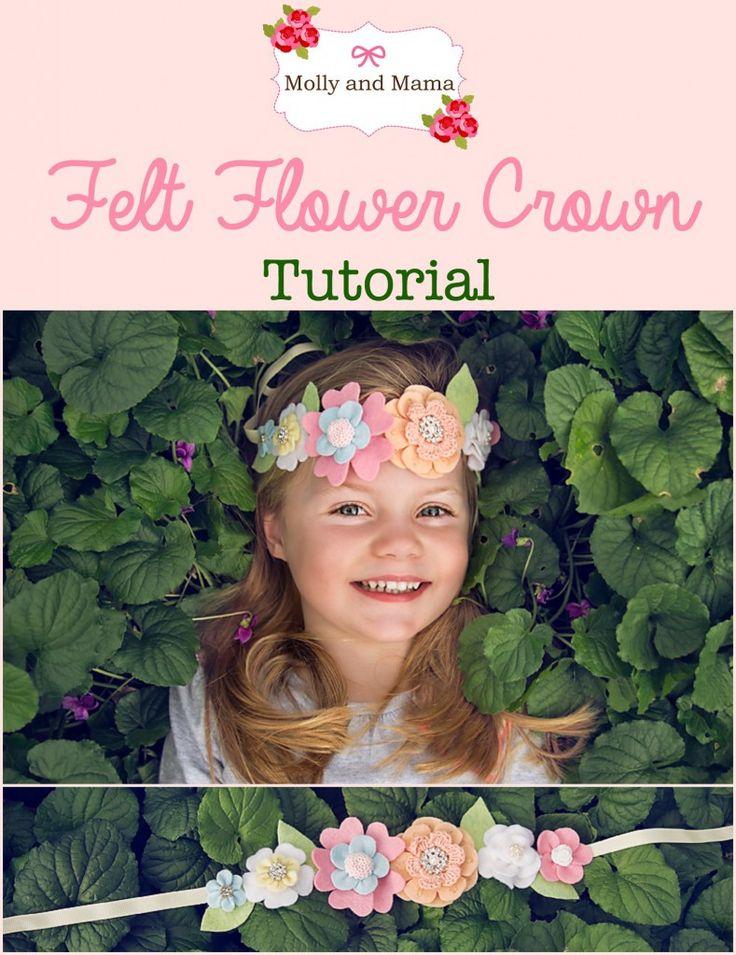 Make a Pretty Felt Flower Crown - https://www.clothncraft.com.au/blog/make-a-pretty-felt-flower-crown/
