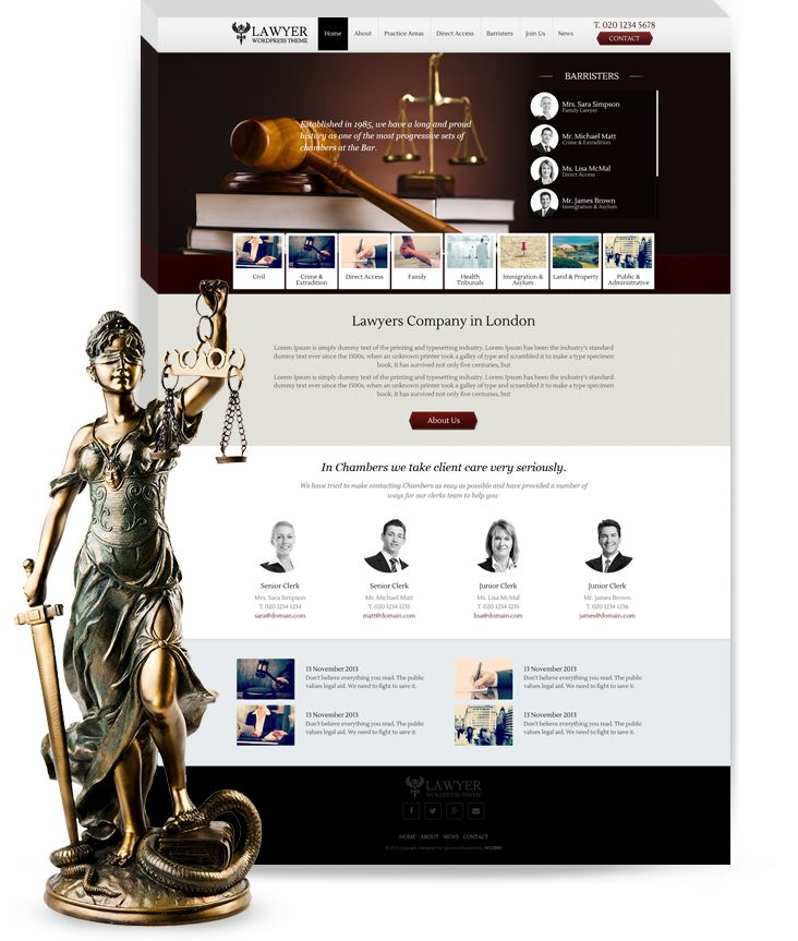 Lawyer WordPress Theme | WordPress Designer