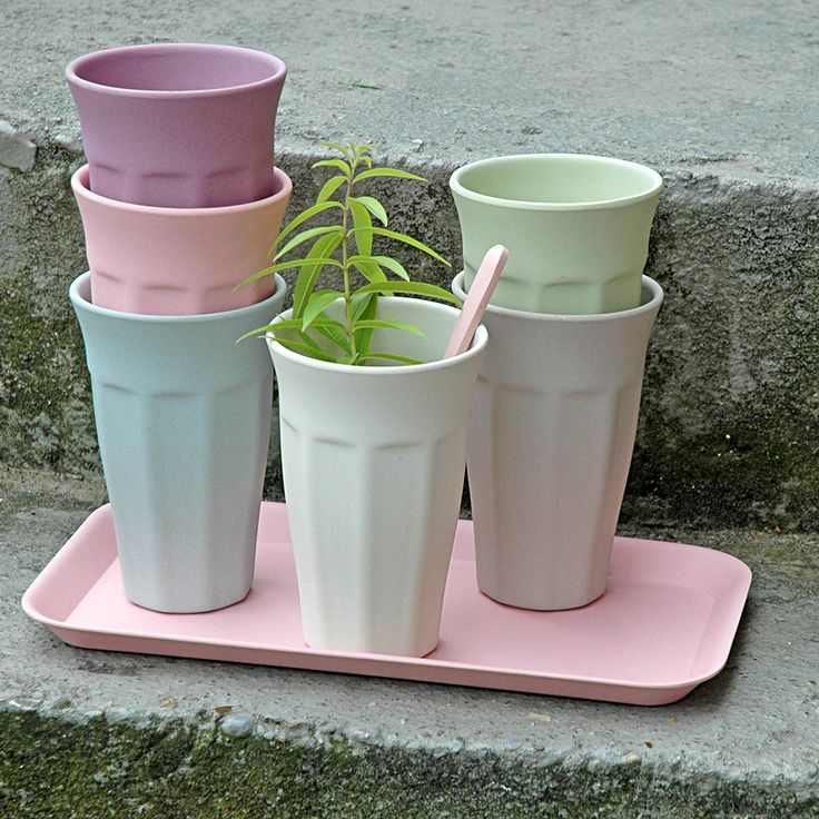 Zuperzozial Bamboo Cups - Set of 6 Multicoloured