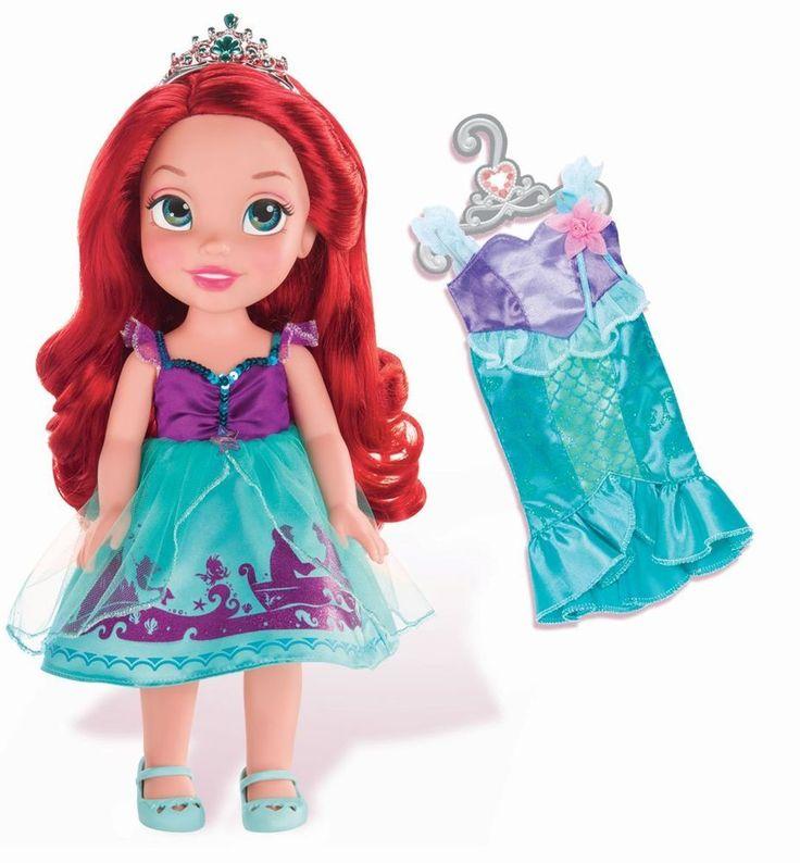 "Disney Princess Toddler Doll With Dress: NIB Disney Princess Ariel-Little Mermaid 15"" Toddler Doll"