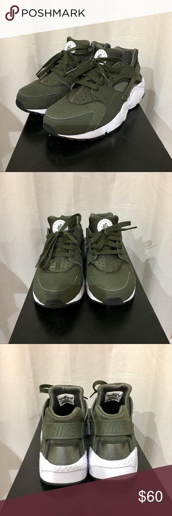 Nike Huarache Olive Green - Size 7Y (Women's 8.5)