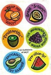 Scratch and sniff stickers - 2000's