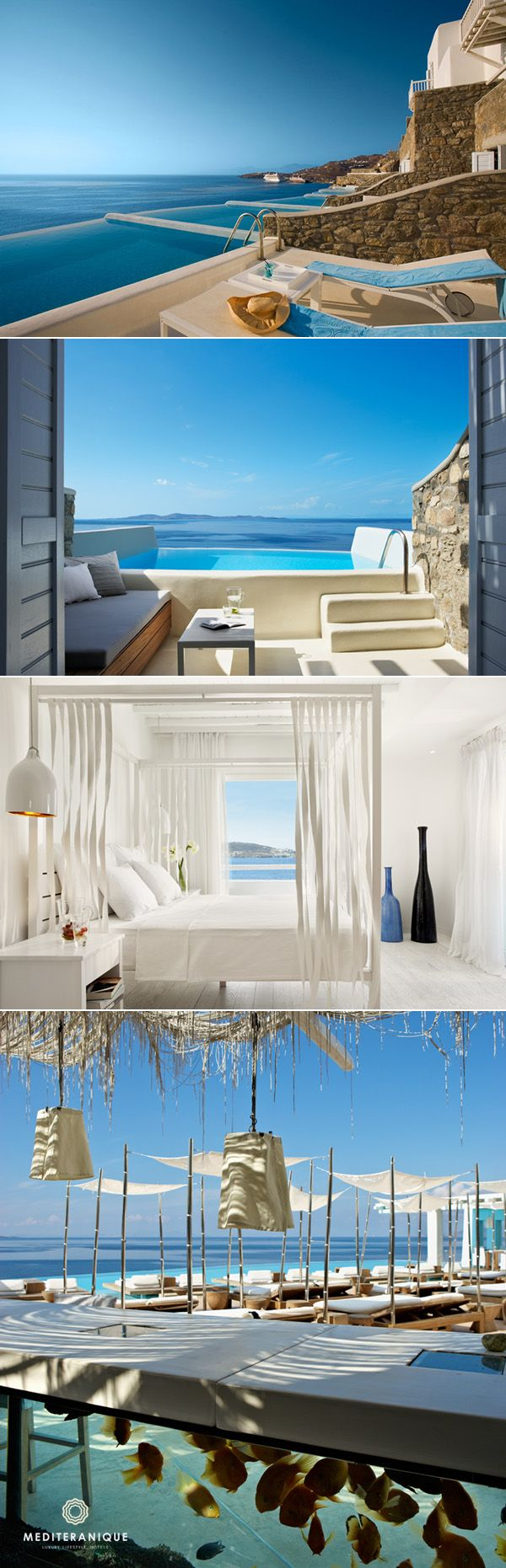 The contemporary Cavo Tagoo Hotel in Mykonos