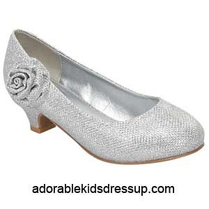 Check out Girls Heels - silver glitter pumps at Cloud Nine Toys - Adorable Kids Dress Up
