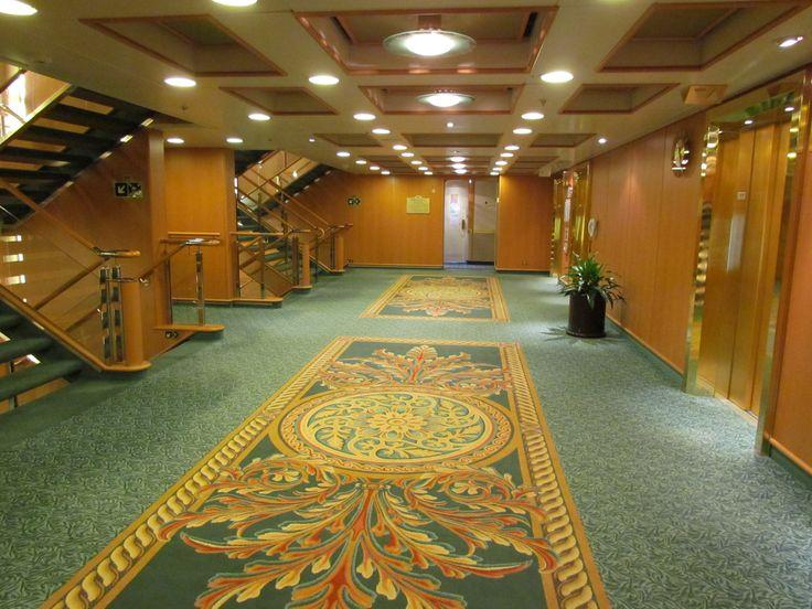 Hallway By Elevators Ruby Princess Cruise Ships
