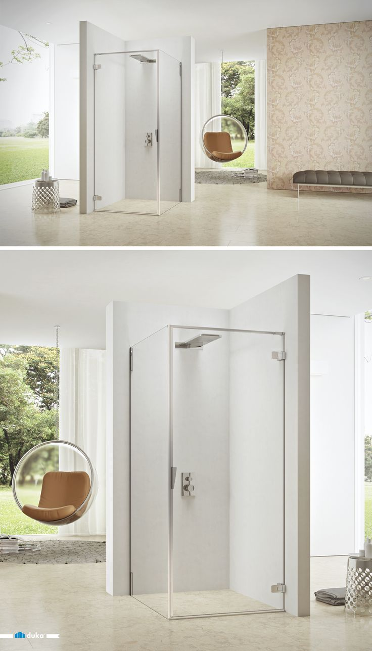 pura 5000 • This shower enclosure is a corner solution with a one-piece swing door in combination with a glass side panel. A beautiful shower enclosure with a touch of contemporary design for your modern bathroom!