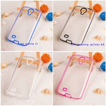 view case &sport back cover for cute samsung galaxy s4  s 4 zoom transparent clear case diamond by pc + tpu running girl cases