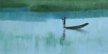 "Saatchi Art Artist Agnieszka Kozień; Painting, ""In the monsoon time nr 2"" #art"