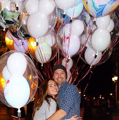 Megan Fox shared pictures of her trip to Disneyland with her husband Brian Austin Green via Facebook on Monday, April 22