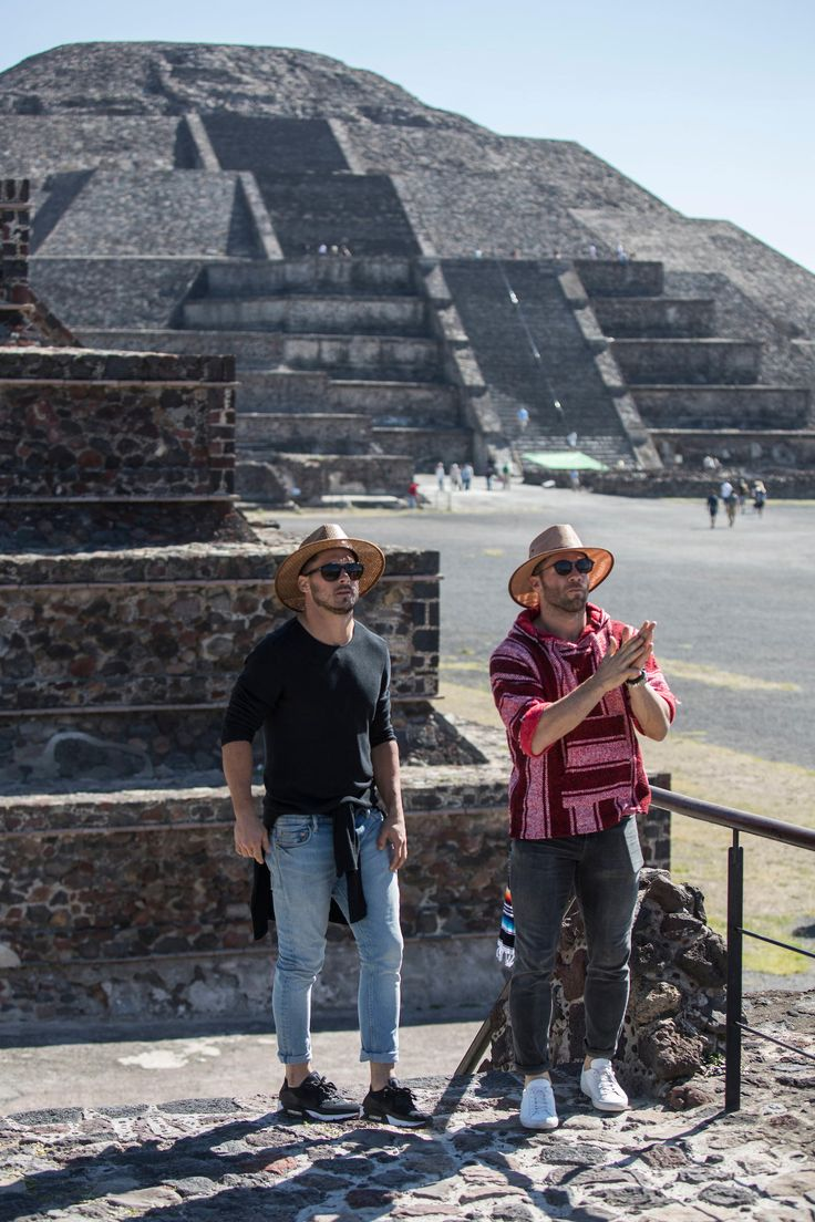 Julian Edelman and Danny Amendola explore the pyramids in Teotihuacan during their trip to Mexico.