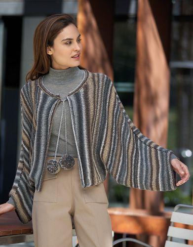 Heft Damen Urban 91 Herbst / Winter | 8: Damen Jacke | Beige-Grau