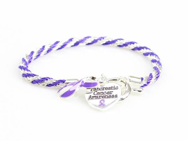 Pancreatic Cancer Heart Charm Bracelet – The Awareness Store