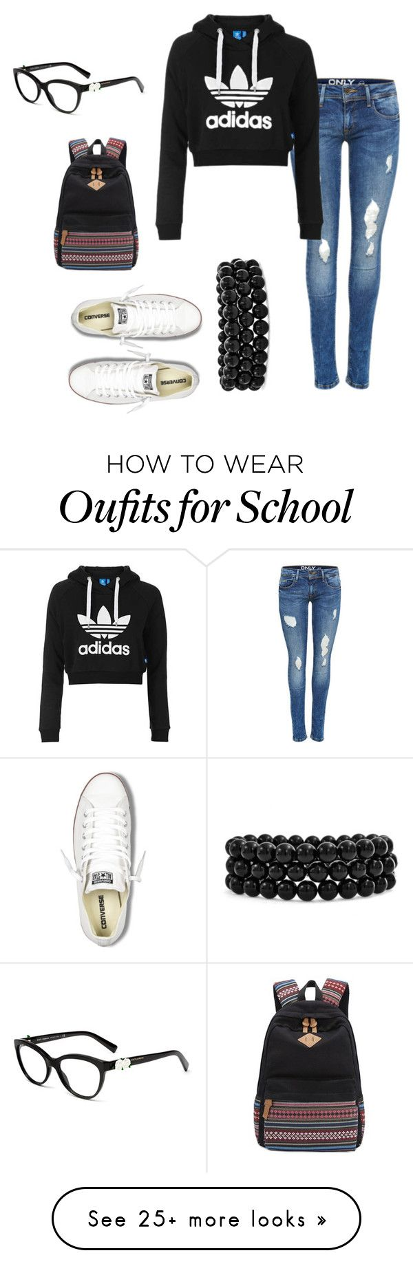 """""""back to school #3"""" by dubstepfreak on Polyvore featuring Topshop, Bling Jewelry and Converse"""