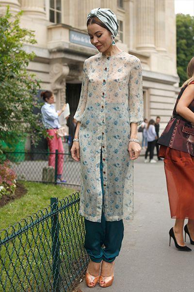 Gypsy style... #UlyanaSergeenko in Paris