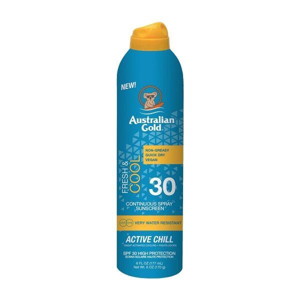 Australian Gold Active Chill Fresh Cool Spray Protector Spf30 177ml Vaporizador En 2020 Protector Solar En Spray Vaporizador Higiene Femenina