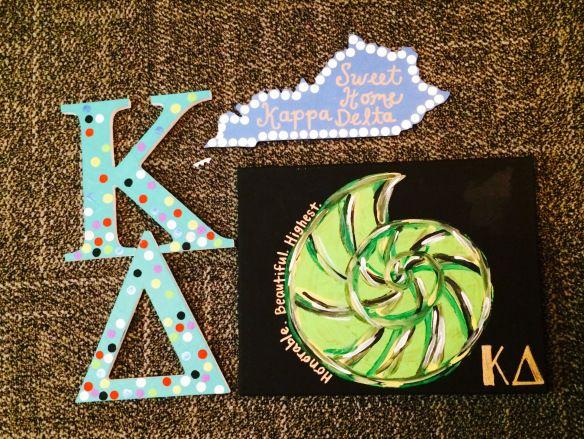 Kappa Delta crafts