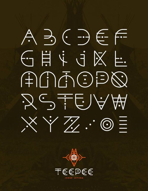 Luneva  - I've never repinned a type font but I think this is so cool!