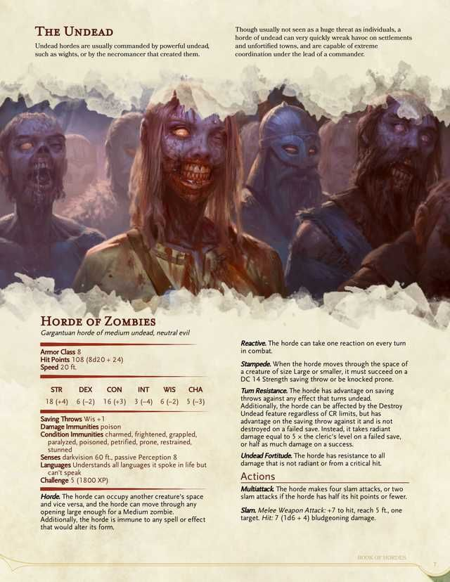 Monster] The Book of Hordes - Rules for Mass Warfare | D&D