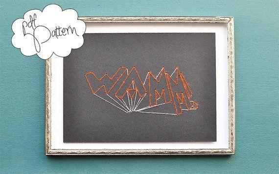 Modern neon doodle graffiti creator pdf stiching by hallodribums