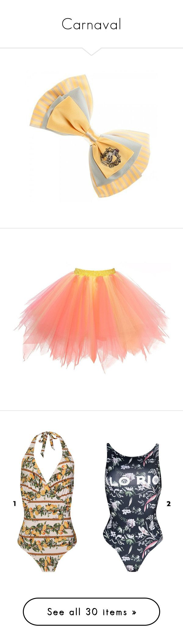 """""""Carnaval"""" by larinhacarter ❤ liked on Polyvore featuring harry potter, skirts, mini skirts, red mini skirt, red ballet tutu, red tutu, ballet tutu, red tutu skirt, accessories and hair accessories"""