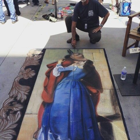 The kiss.  Pasadena chalk festival 2015.