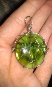How to wire-wrap a cracked marble...makes it into a pendant