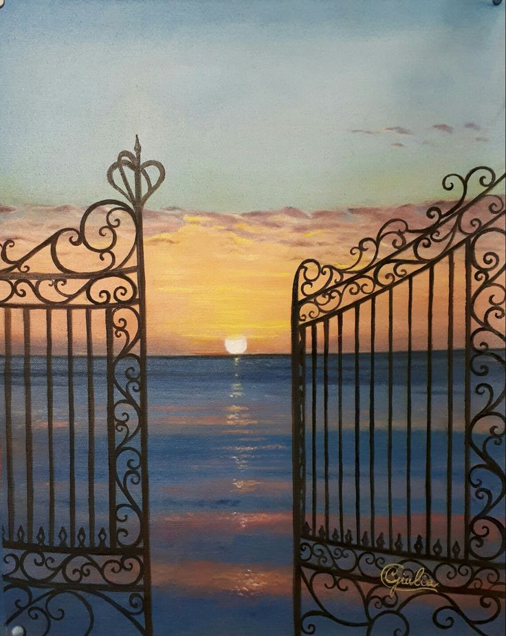 Oil painting  #sunrise #opengate
