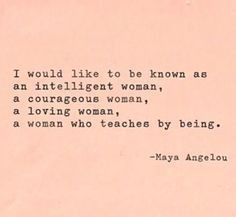 charming life pattern: maya angelou - quote - I would like to be known as...