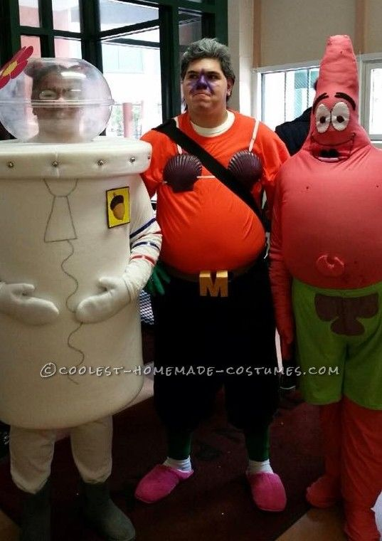 Coolest Sandy Cheeks Mermaid Man And Patrick Star Group