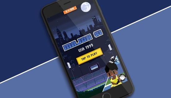 Gatorade Snapchat game - Serena Williams (tennis, gatorade, drink, fmcg, 8-bit)  https://lbbonline.com/news/oh-snap-so-thats-how-you-create-a-successful-snapchat-campaign/