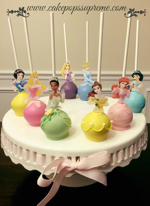Princess cake pops - now this is perfect for a birthday girl's party