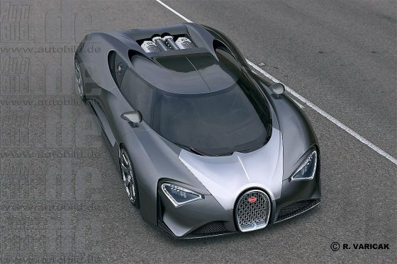 Bugatti Veyron successor in sight, a 1500hp hybrid hypercar called Chiron