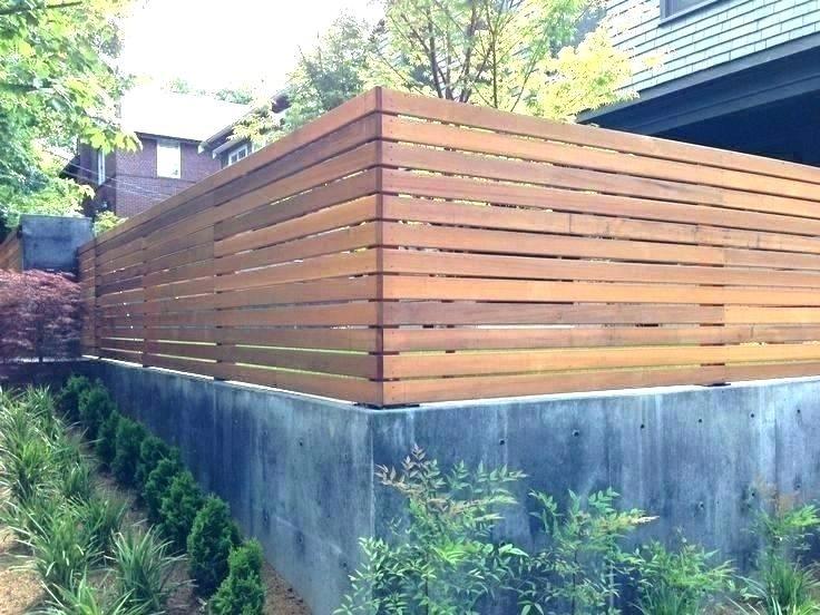 Concrete Half Wall Fencing 3 Feet High Google Search Modern Fence Design Wood Fence Design Backyard Fences