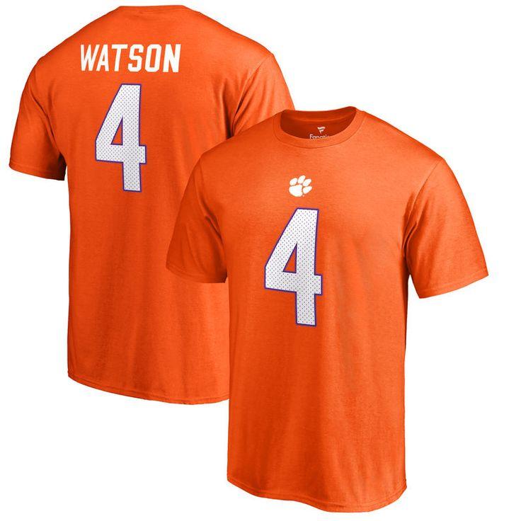 DeshaunWatson Clemson Tigers Fanatics Branded College Legends T-Shirt - Orange