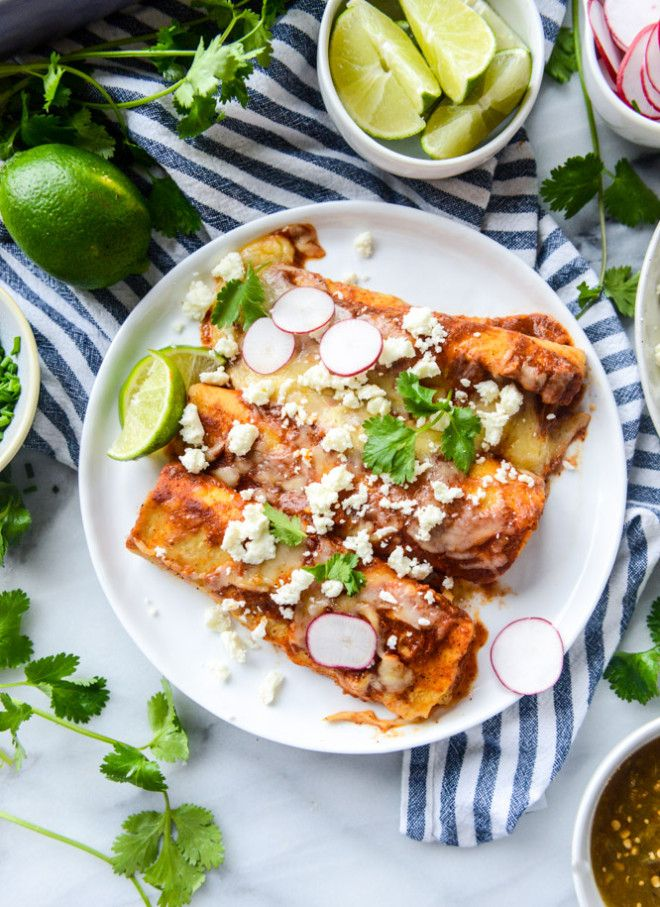 Cheese Enchiladas with Homemade Sauce | How Sweet It Is