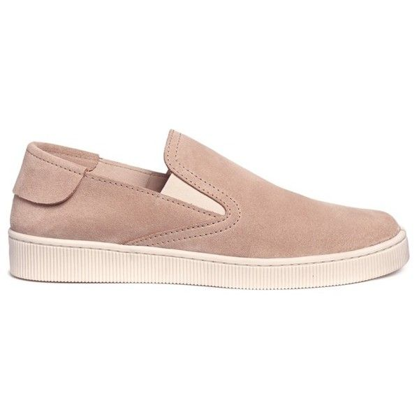 Pedro García 'Preston' suede skate slip-ons ($385) ❤ liked on Polyvore featuring shoes, neutral, pull on shoes, pedro garcia shoes, light brown shoes, slip on shoes and suede slip on shoes