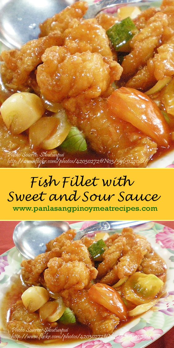 Fish Fillet with Sweet and Sour Sauce http://www.panlasangpinoymeatrecipes.com/fish-fillet-sweet-sour-sauce.htm #SweetSour #FishFillet
