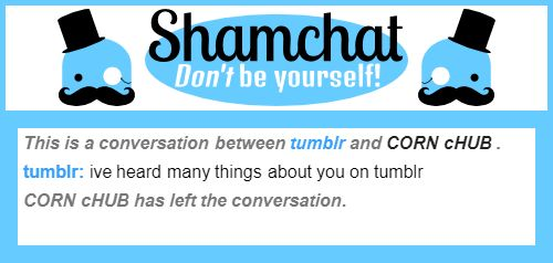 A conversation between CORN cHUB  and tumblr