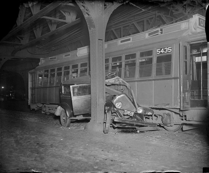Car Crushed by Trolley in Boston