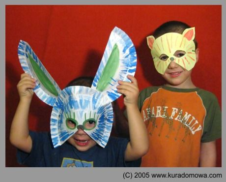 animal mask made from paper plates