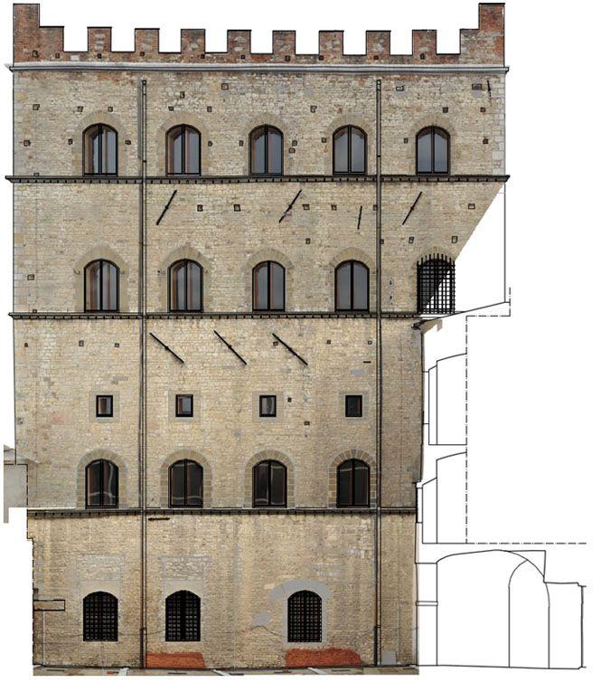 Fotopiano della facciata del Palazzo Pretorio