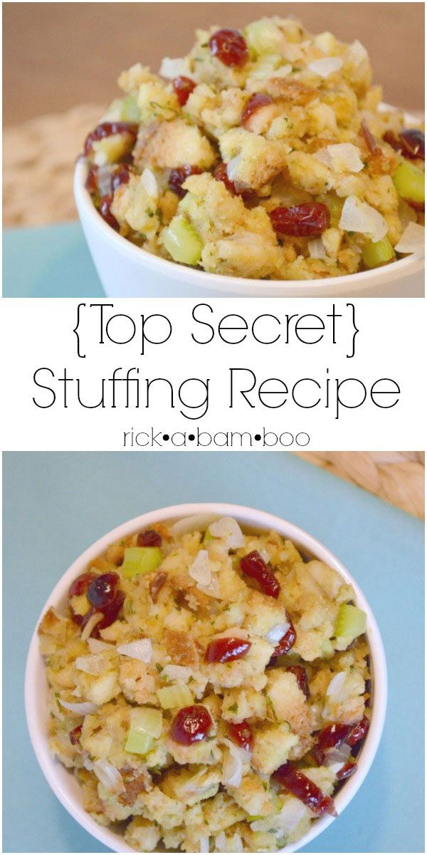 {Top Secret} Stuffing Recipe   rickabamboo.com   #thanksgiving #side #holiday