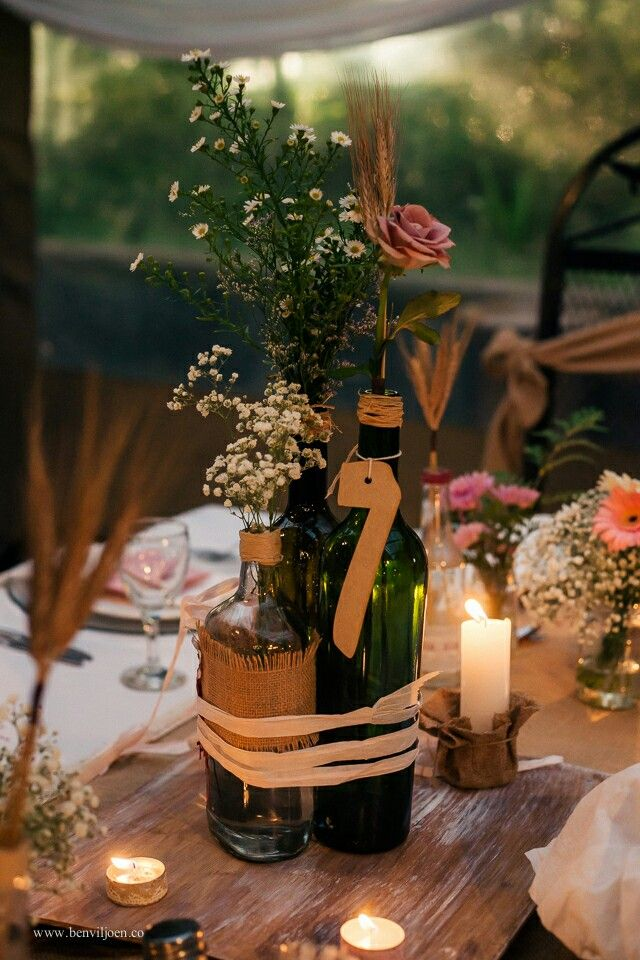 Wedding,rustic,  country, burlap, centre piece, roses, wood, candles, wheat, daisy