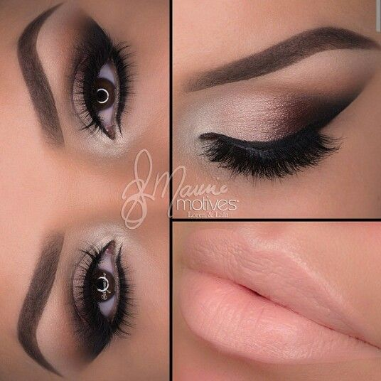"""1.Start by drawing a line on the outer edge of the eye using """"Raven"""" blend inward at an angle 2.Apply """"Truffle"""" then """"Bordeaux"""" overlapping each color slightly 3.Taking """"Native"""" blend in the crease 4.Take """"Gilded"""" and apply after """"Bordeaux"""" lastly to highlight the inner corner apply """"Shell"""" 5.Apply the liner using """"little black dress"""" to both top and bottom lashes! Smudge the liner slightly with """"Raven"""" on the lower lash line 6.Done! Lips/Barefoot lipstick"""