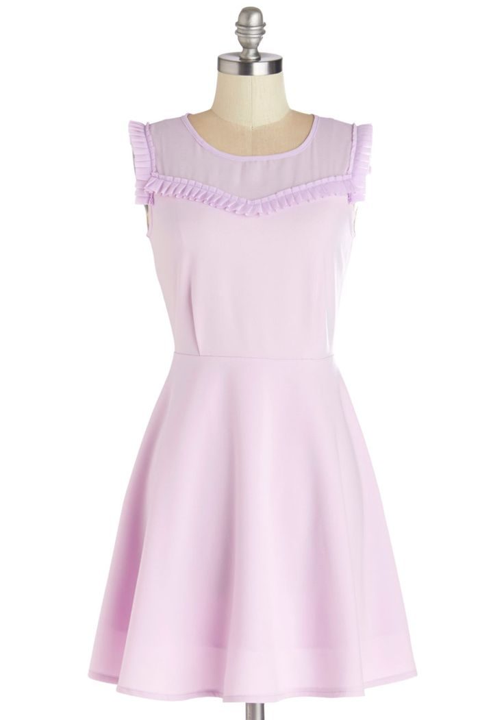 Ready to Celebrate Dress. When the time calls for a celebration, you reach for this lilac dress by Kling! #purple #modcloth