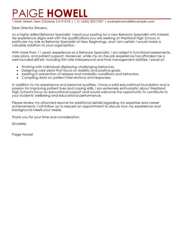27+ Example Of Cover Letter For Job Resume Cover Letter Example