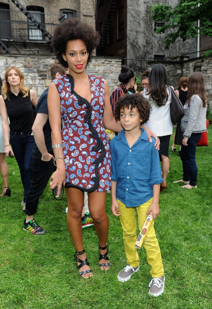 Solange Knowles with her child: son Daniel Julez whom she welcomed with her first husband Daniel Smith