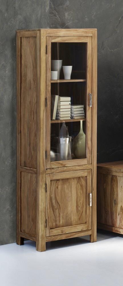 Natürliches Sheesham Holz trifft auf Glas und Metall. Ein Hingucker im Esszimmer!