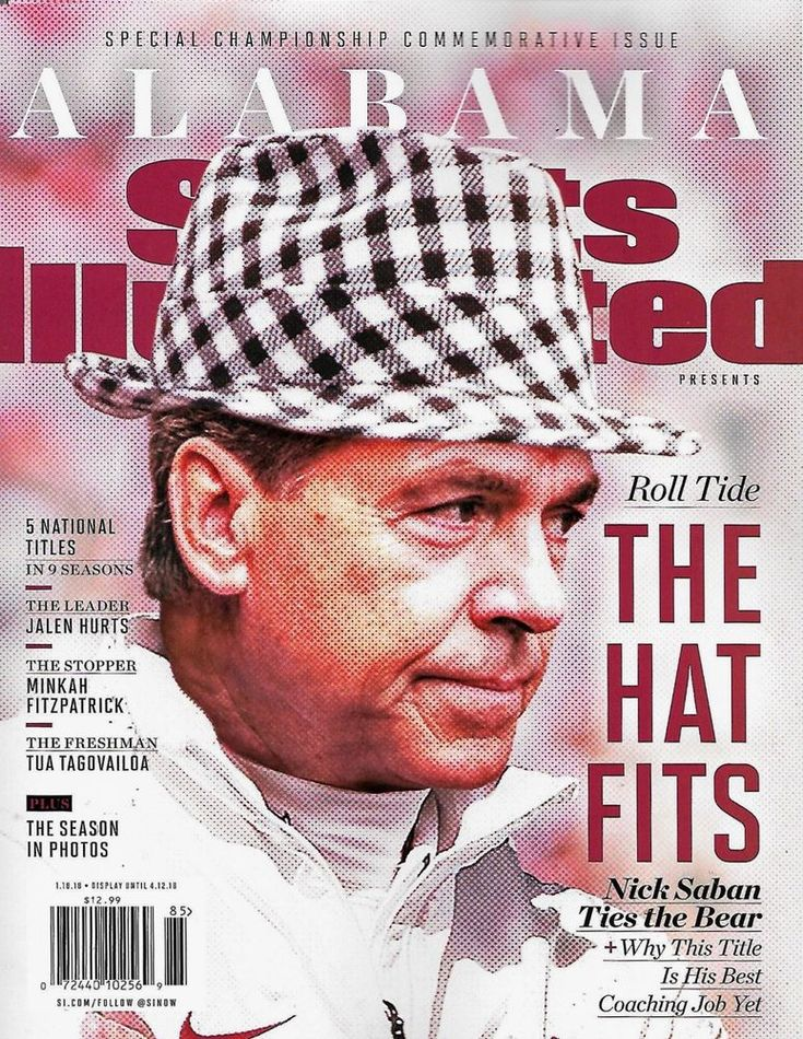 Sports Illustrated 2017 College Football National Championship ALABAMA, SABAN